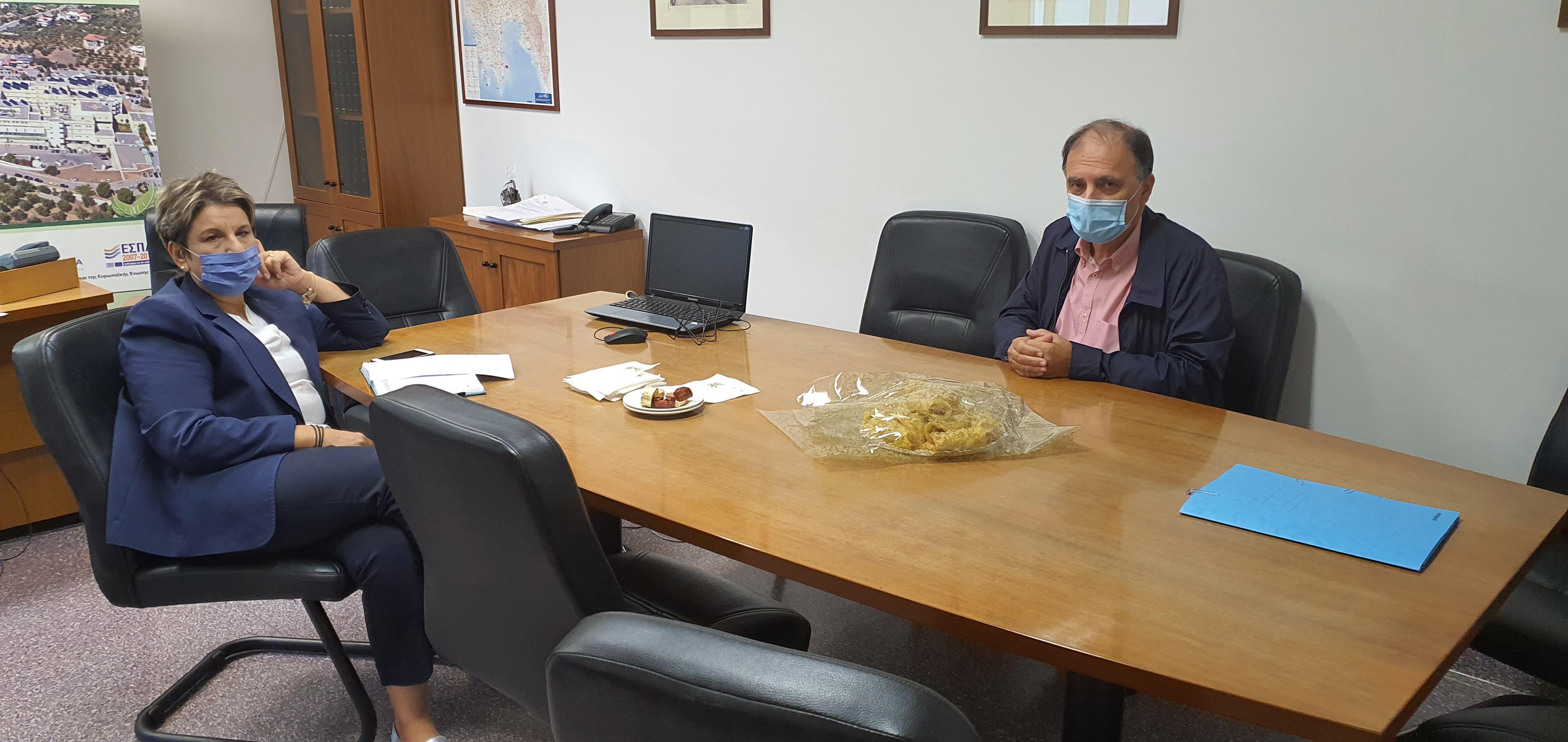 Συνάντηση της Διοικήτριας με τον Επιστημονικά Υπεύθυνο του Κ.Υ. Καλαμάτας
